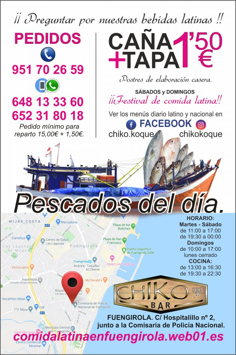web Chiko Bar BLANCA flyers